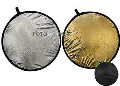 """43"""" 2-in-1 Light Mulit Collapsible disc Reflector 110cm"""