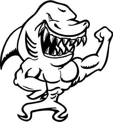 Shark Vinyl Decal Car Truck Boat Window Sticker