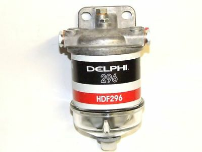 """Single Fuel Filter Assembly Cav Glass Bowl 1/2""""-20UNF with FREE SPARE FILTER"""