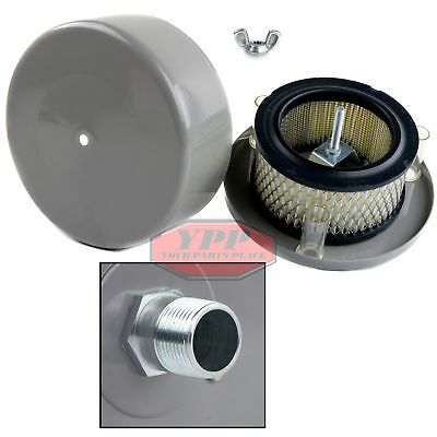 """3/4"""" Compressor Air Intake Filter Silencer Housing Replacement Paper Element New"""