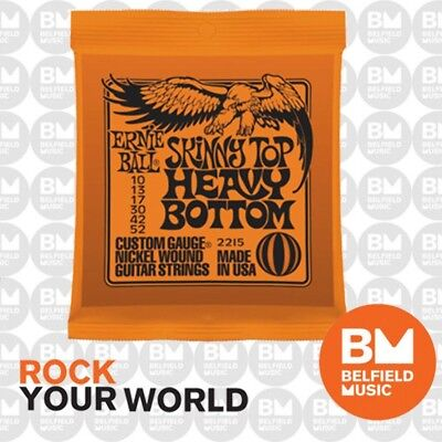 Ernie Ball 2215 Electric Guitar Strings Slinky Skinny Top Heavy Bottom 10-52