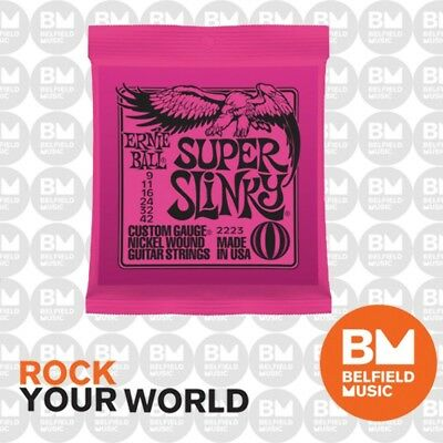 Ernie Ball 2223 Electric Guitar Strings Slinky Super 9-42 .009-.042