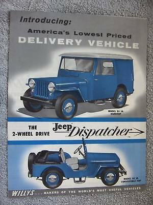 1950's WILLYS DJ 3A DELIVERY JEEP DISPATCHER BROCHURE
