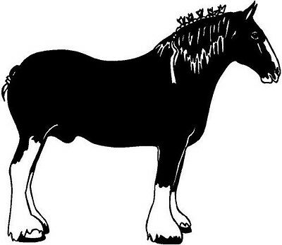 Clydesdale Horse Vinyl Decal Car Truck Window Sticker