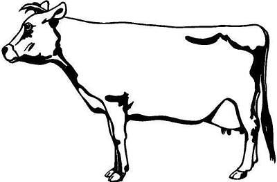 Jersey Cow Vinyl Decal Car Truck Window Sticker