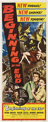 Beginning of the end Peter Graves Horror poster #3