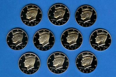2000 through 2009 Silver Proof Kennedy Half Set of 10