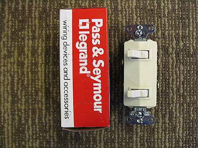 Combo Double Switch Light Almond  - Made in USA