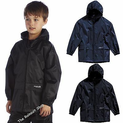 Kids Regatta Children Stormbreak  Waterproof Jacket Boys Girls Childs Rain Coat