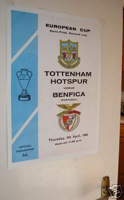 1962 Tottenham Benfica Semi Final Poster of Programme