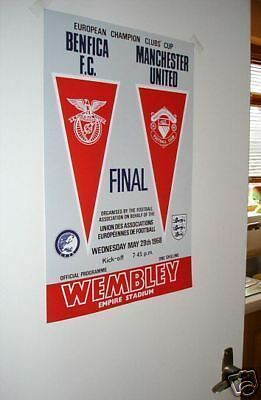 1968 Man Utd European Cup Final POSTER of programme