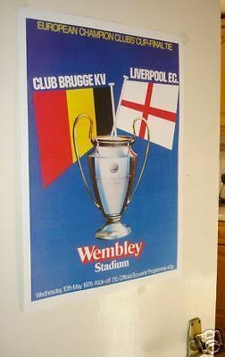 1978 European Cup Final Poster of Programme Liverpool