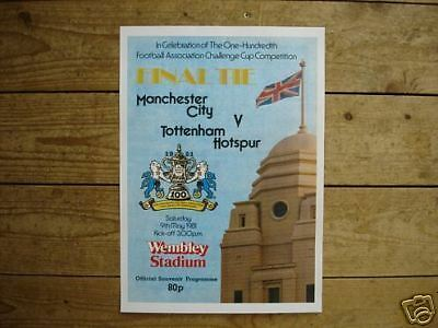 1981 FA Cup Final Spurs v Man City POSTER of Programme