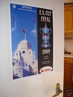1989 FA Cup Final Poster of Programme Everton Liverpool