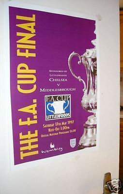 1997 FA Cup Final Poster Programme Chelsea Middlesboro