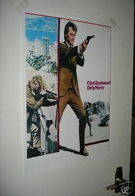 Actor Clint Eastwood Dirty Harry NEW Repro Film Poster