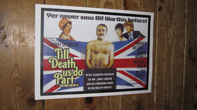 Alf Garnett Till Death Us Do Part Repro Film POSTER