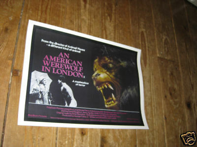 An American Werewolf in London Advertising POSTER
