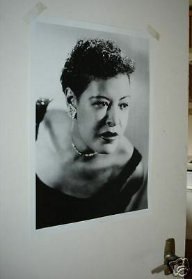 BILLIE HOLIDAY New B/W Poster
