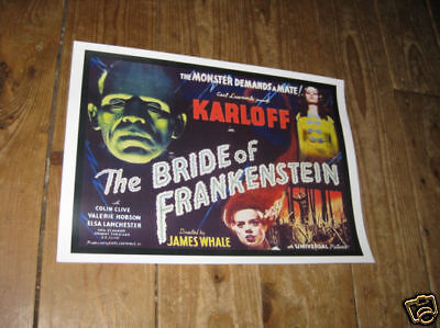 Boris Karloff Bride of Frankenstein Film Repro POSTER