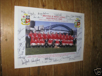 British and Irish Lions 1989 Rugby POSTER Copy Autos