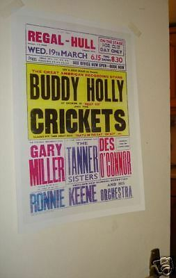 Buddy Holly Tour Repro Poster