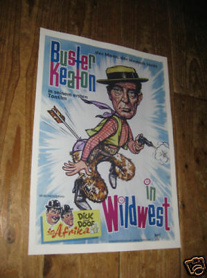 Buster Keaton Wildwest Repro Film POSTER