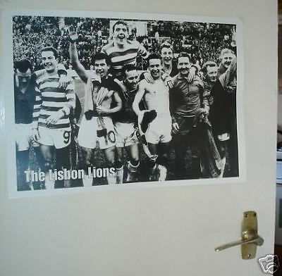 Celtic Lisbon Lions 1967 Team Group POSTER b/w