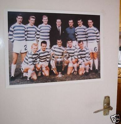 Celtic Lisbon Lions 1967 Team Group POSTER Colour