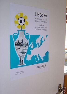 Celtic Lisbon Lions 1967 Wall Poster Final PROGRAMME