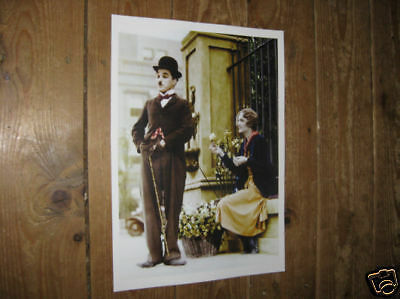 Charlie Chaplin City Lights COLOUR POSTER