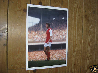 Charlie George Arsenal Legend 1970s New POSTER Red