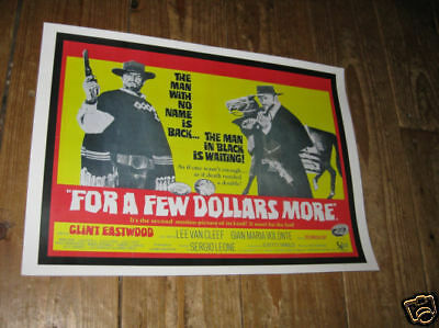 Clint Eastwood For a Few Dollars More Film Repro POSTER