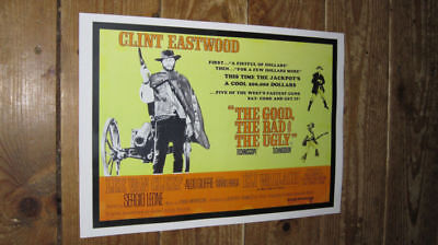 Clint Eastwood The Good Bad Ugly Repro Film POSTER