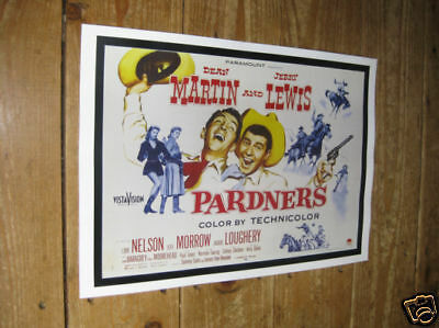 Dean Martin Jerry Lewis Pardners Repro Film POSTER