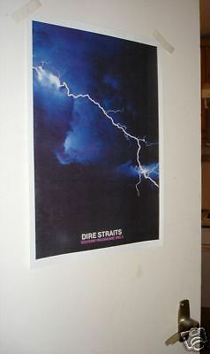 Dire Straits Repro Tour Colour Door Poster of Programme