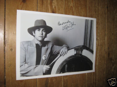 Elton John Great New BW POSTER with Copy Auto