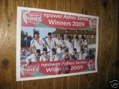 England Cricket 2009 Ashes Winners POSTER