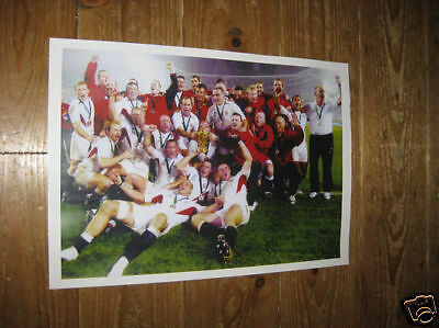 England Rugby World Cup Winners Team Group POSTER