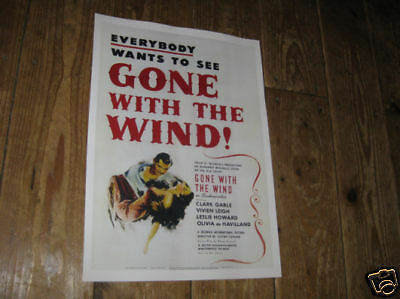 Gone with the Wind Repro Film POSTER White