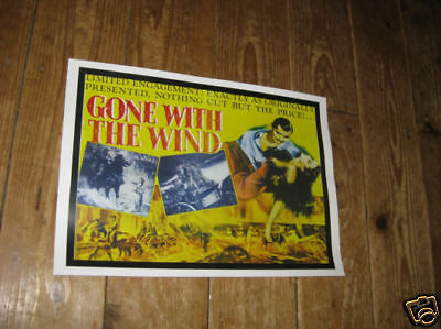 Gone with the Wind Repro Film POSTER Yellow