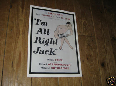I'm All Right Jack Sellers Rutherford Repro POSTER