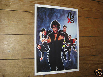 INXS Michael Hutchence Repro Tour Poster