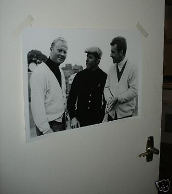 Jack Nicklaus Gary Player and Tony Jacklin Great Poster