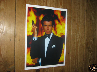 James Bond 007 Pierce Brosnan POSTER Fire