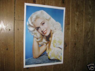 Jayne Mansfield Fantastic New Yellow POSTER