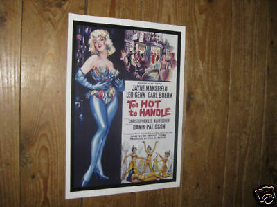 Jayne Mansfield Too Hot to Handle Repro POSTER