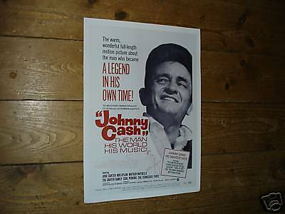 Johnny Cash Great New Repro Film Poster