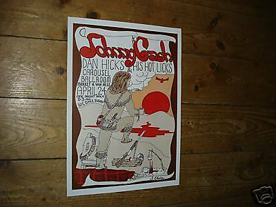 Johnny Cash Great New Repro Tour Poster Hicks