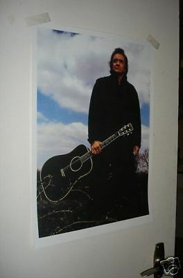 Johnny Cash with Guitar Poster NEW